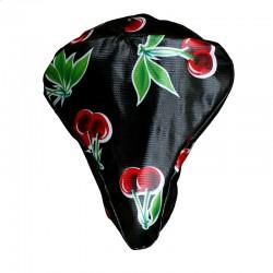 Sattelbezug Cerezas schwarz