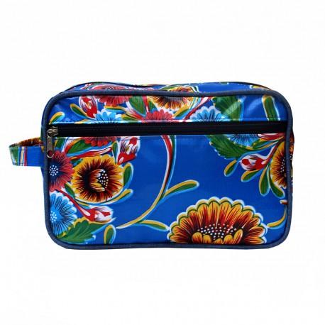 Kulturtasche Dulce flor blau