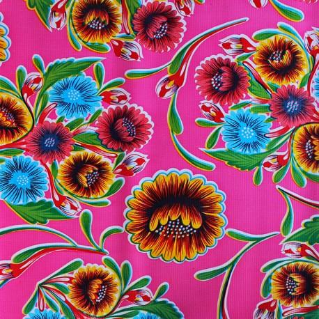 Wachstuch Meterware - Dulce flor pink