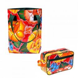 SET Shopper + Kulturtasche Tehuana rot