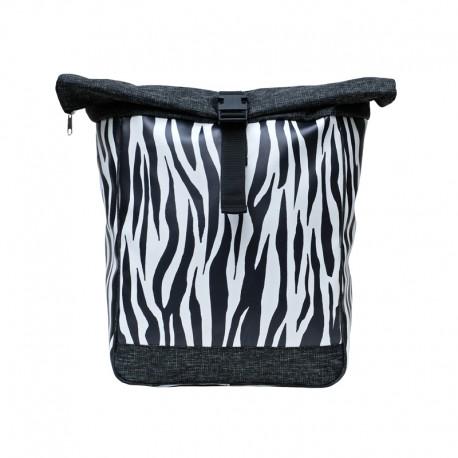 Kombi Fahrradtasche/Rucksack Zebra