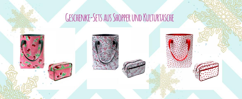 Geschenke Sets aud Shopper und Kulturtasche